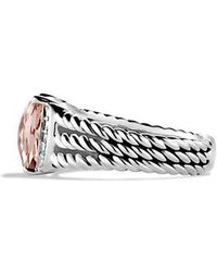 David Yurman - Petite Wheaton® Ring With Morganite And Diamonds - Lyst