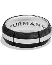 David Yurman - Forged Carbon Band Ring - Lyst