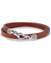 David Yurman   Chevron Double Wrap Leather Bracelet In Brown   Lyst