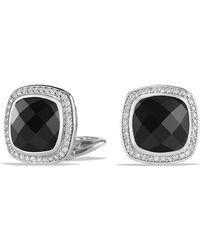 David Yurman - Albion® Earrings With Black Onyx And Diamonds, 11mm - Lyst