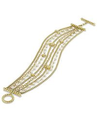 David Yurman - Starburst Chain Bracelet With Pearls In 18k Gold - Lyst