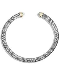 David Yurman - Cable Classics® Bracelet With Prasiolite And 14k Gold, 5mm - Lyst