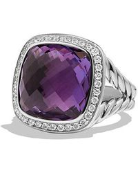 David Yurman - Albion® Ring With Amethyst And Diamonds, 14mm - Lyst