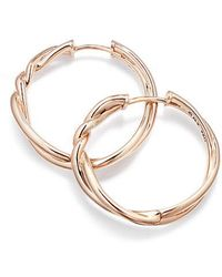David Yurman - Continuance® Hoop Earrings In 18k Rose Gold - Lyst