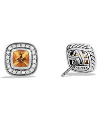David Yurman - Petite Albion® Earrings With Citrine And Diamonds - Lyst
