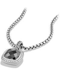 David Yurman - Albion® Pendant With Hematine And Diamonds, 11mm - Lyst