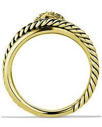 David Yurman - X Crossover Ring With Diamonds In 18k Gold - Lyst