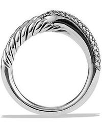 David Yurman - Labyrinth Single-loop Ring With Diamonds - Lyst