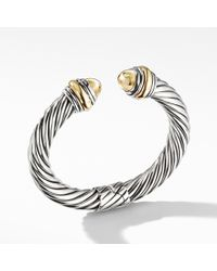 David Yurman - Cable Classics Bracelet With Bonded Yellow Gold And 14k Gold, 10mm - Lyst