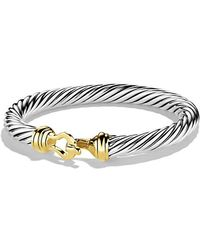 David Yurman - Cable Classic Buckle Bracelet With 14k Gold, 7mm - Lyst