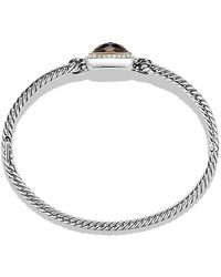 David Yurman - Albion® Bracelet With Smoky Quartz, Diamonds And 18k Gold, 6mm - Lyst