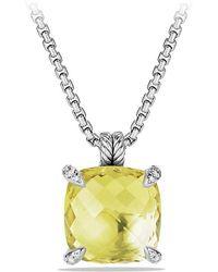 David Yurman - Châtelaine Pendant With Lemon Citrine And Diamonds, 20mm - Lyst