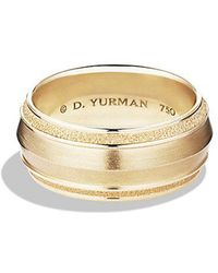 David Yurman - Knife Edge Band Ring In 18k Gold, 10mm - Lyst