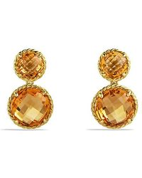 David Yurman - Châtelaine Mini Double-drop Earrings With Citrine In 18k Gold - Lyst