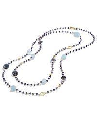 David Yurman - Bijoux Bead Necklace With Labradorite And Milky Aquamarine In 18k Gold - Lyst