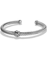 David Yurman | Renaissance Bracelet With Diamonds, 5mm | Lyst