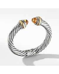 David Yurman - Cable Classics Bracelet With Citrine And 14k Gold, 10mm - Lyst