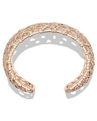 David Yurman | Venetian Quatrefoil Wide Cuff Bracelet With Diamonds In 18k Rose Gold, 41mm | Lyst