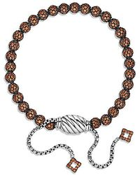 David Yurman | Petite Pavé Bracelet With Orange Sapphire | Lyst