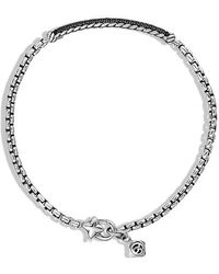 David Yurman - Petite Pavé Bar Bracelet With Black Diamonds, 3mm - Lyst