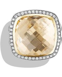 David Yurman - Albion® Ring With Champagne Citrine And Diamonds With 18k Gold, 17mm - Lyst