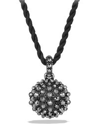 David Yurman - Cable Berries Pendant Necklace With Hematine - Lyst