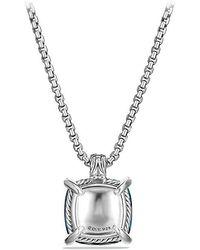 David Yurman - Châtelaine Pendant With Hampton Blue Topaz And Diamonds, 20mm - Lyst