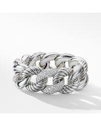 David Yurman - Belmont® Curb Link Bracelet With Diamonds - Lyst