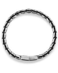David Yurman - Chevron Woven Bracelet With Black Diamonds, 12mm - Lyst