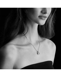 David Yurman | Châtelaine Pave Bezel Pendant Necklace With Garnet And Diamonds In 18k Gold, 9mm | Lyst