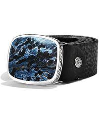 David Yurman - Exotic Stone Belt Buckle With Pietersite - Lyst