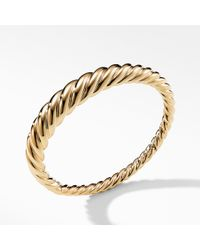 David Yurman - Pure Form Cable Bracelet In 18k Gold, 9.5mm - Lyst
