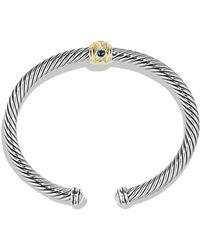 David Yurman - Renaissance Bracelet With Chrome Diopside, Hampton Blue Topaz And 14k Gold, 5mm - Lyst