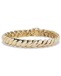 David Yurman - Hampton Cable Bracelet In 18k Gold. 8.5mm - Lyst