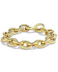 David Yurman - Large Oval Link Bracelet In 18k Gold - Lyst