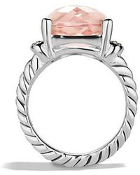 David Yurman - Wheaton Ring With Morganite And Diamonds - Lyst