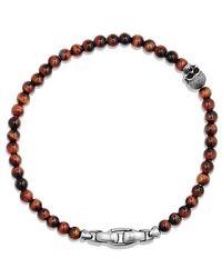 David Yurman - Spiritual Beads Skull Bracelet With Red Tigers Eye - Lyst