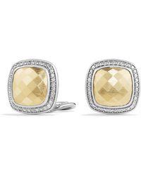 David Yurman - Albion® Earrings With Diamonds And 18k Gold - Lyst