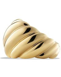 David Yurman - Hampton Cable Collection Ring In 18k Gold - Lyst