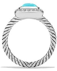 David Yurman | Petite Albion Ring With Turquoise And Diamonds | Lyst