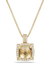 David Yurman - Chatelaine Bezel Necklace With Champagne Citrine And Diamonds - Lyst