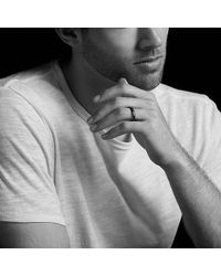 David Yurman - Dy Delaunay Narrow Band Ring In 18k Rose Gold, 4mm - Lyst
