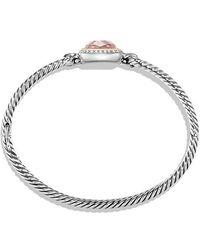David Yurman - Albion® Bracelet With Morganite, Diamonds And 18k Gold - Lyst