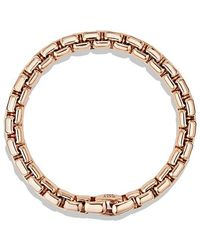 David Yurman | Box Chain Bracelet In 18k Rose Gold, 7.5mm | Lyst