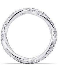 David Yurman - Dy Wisteria Wedding Band With Diamonds In Platinum, 3mm - Lyst