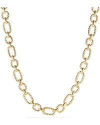 David Yurman - Cushion Link Necklace With Diamonds In 18k Gold, 12.5mm - Lyst