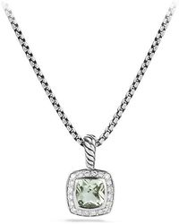 David Yurman - Petite Albion® Pendant Necklace With Prasiolite And Diamonds - Lyst