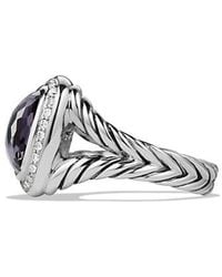 David Yurman - Albion® Ring With Black Orchid And Diamonds, 11mm - Lyst