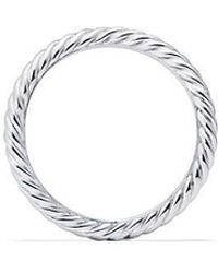David Yurman - Dy Crossover Cable Nesting Wedding Band In Platinum, 1.9mm - Lyst
