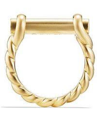 David Yurman | Maritime Shackle Ring In 18k Gold | Lyst